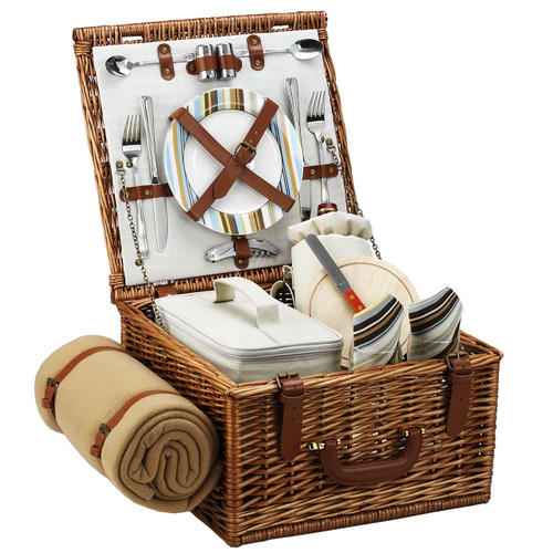 Picnic at Ascot - Cheshire Basket for 2 w/ Blanket