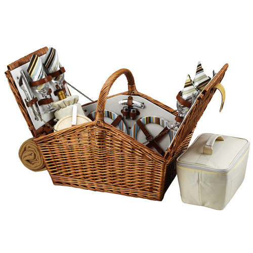 Picnic at Ascot - Huntsman Basket for 4 w/ Blanket