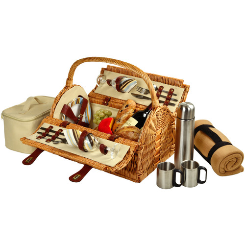 Picnic at Ascot - Sussex Picnic Basket for 2 w/ Blanket and Coffee Set