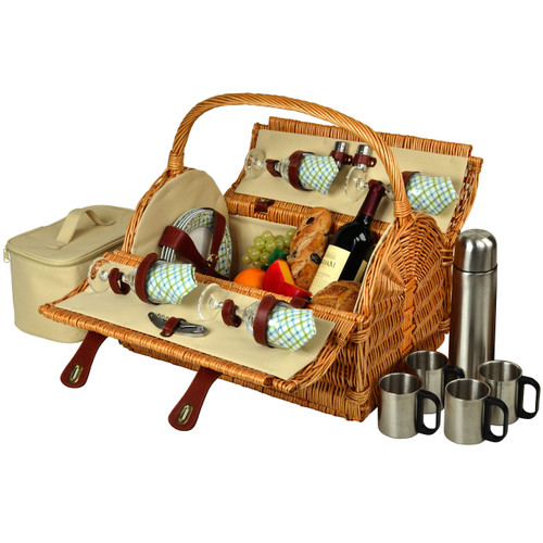 Picnic at Ascot - Yorkshire Picnic Basket for 4 w/ Coffee