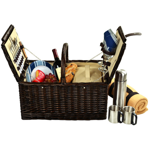 Picnic at Ascot - Surrey Picnic Basket for 2 w/ Blanket and Coffee Set