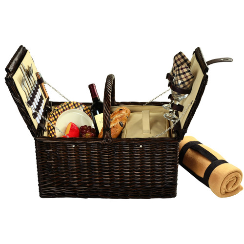 Picnic at Ascot - Surrey Picnic Basket for 2 w/ Blanket