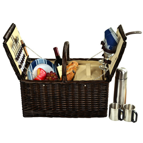 Picnic at Ascot - Surrey Picnic Basket for 2 w/ Coffee Set
