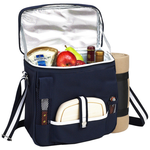 Picnic at Ascot - Wine & Cheese Cooler Tote w/ Blanket