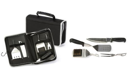 Blaze - 6 Piece BBQ Tool Set with Case