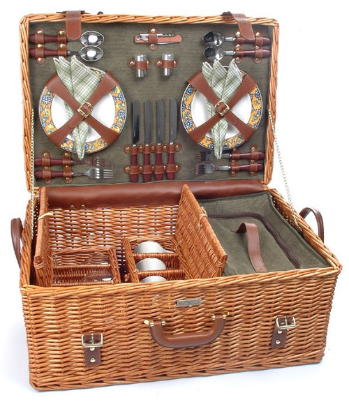 The Riviera - Picnic Basket for 4