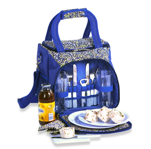 Bailey - April Cornell Picnic Tote for 2 in English Paisley