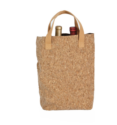 Cork Tote Double Bottle Bag