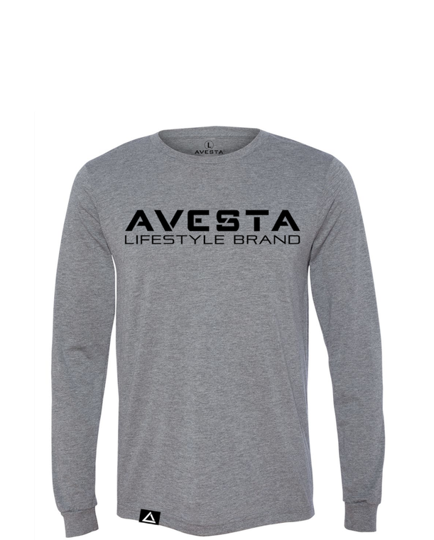 STANDARD CREW LONG SLEEVE - Heather Grey