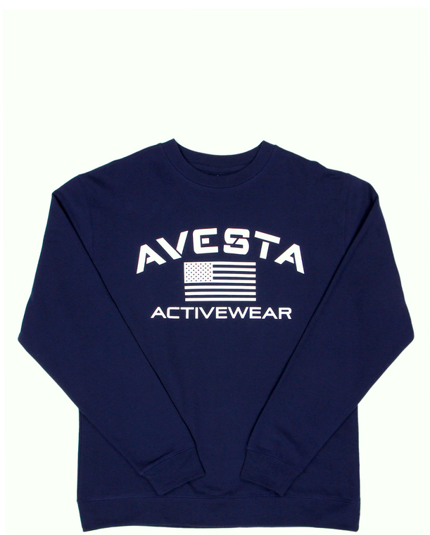 WOMEN'S ACTIVEWEAR CREWNECK SWEATSHIRT - Navy
