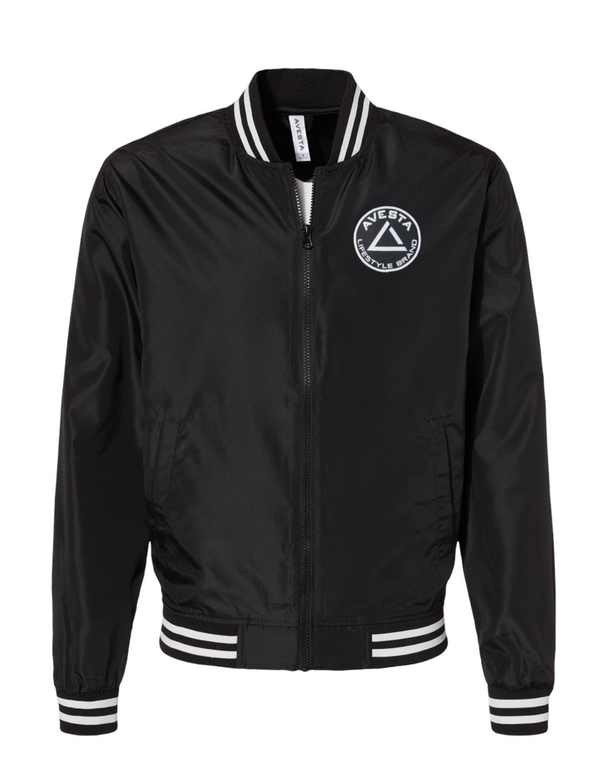 ICON BOMBER JACKET - Black & White