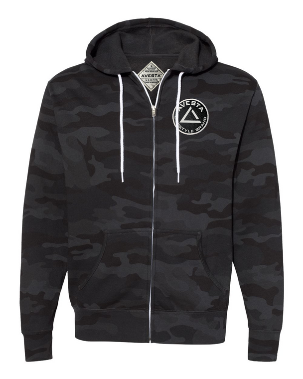 ICON ZIP UP - Black Camo