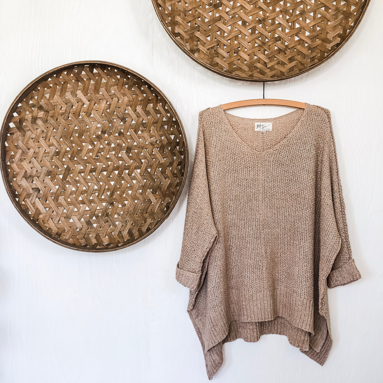 Taupe Chainmail Sweater