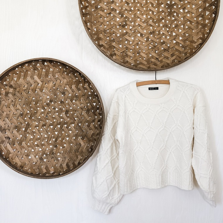 Cream Cableknit Sweater