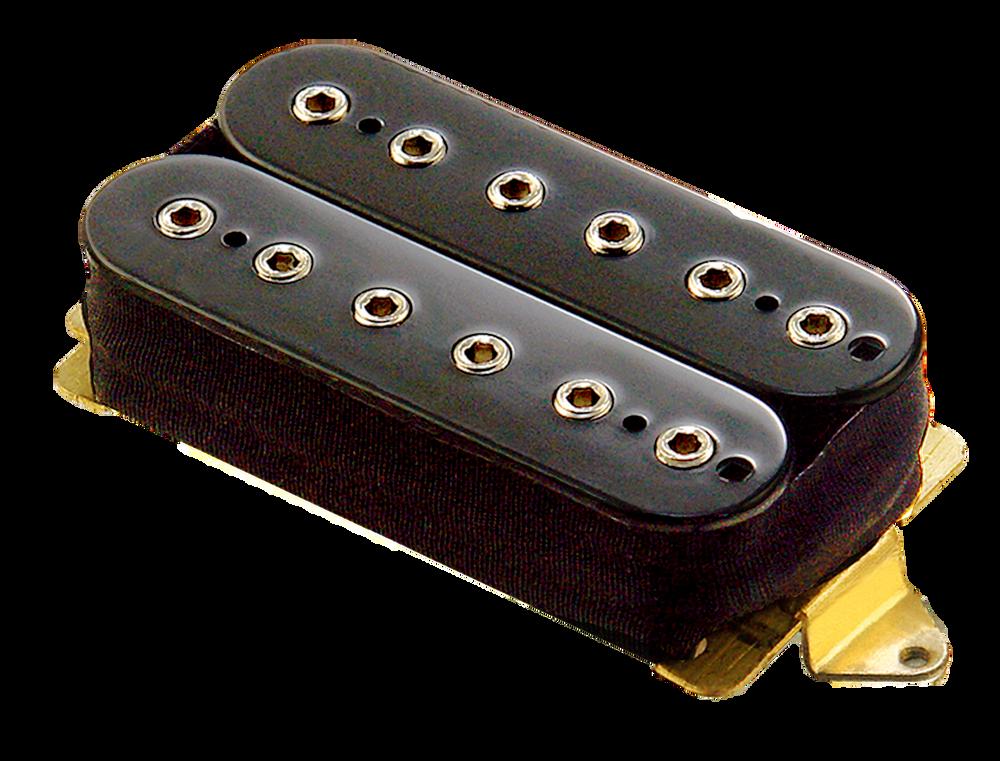 High output ceramic bar magnets. Hex head adjustable pole pieces. 10.6mm spacing. DC Resistance: 16.6K ohms. Output: 460mv. Black.