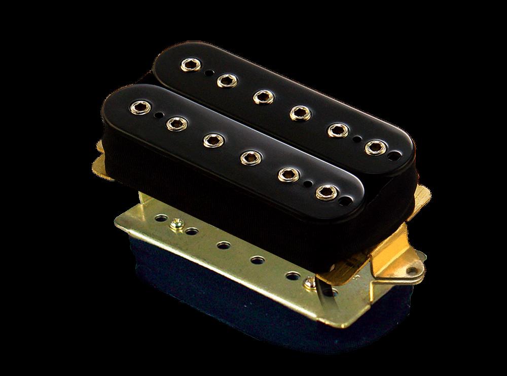 High output ceramic bar magnets. Hex head adjustable pole pieces. 10.0mm spacing. DC Resistance: 8.6K ohms. Output: 460mv. Black.