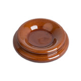 Ams Wooden Piano Castor Cup. Polished Walnut