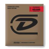 Jim Dunlop - Stainless Steel Flat Wound Bass Guitar Set 45/105 Long Scale