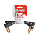 Carson Pro - Guitar Effects Pedal Flat Patch Cable- 4 Inch4 Pack