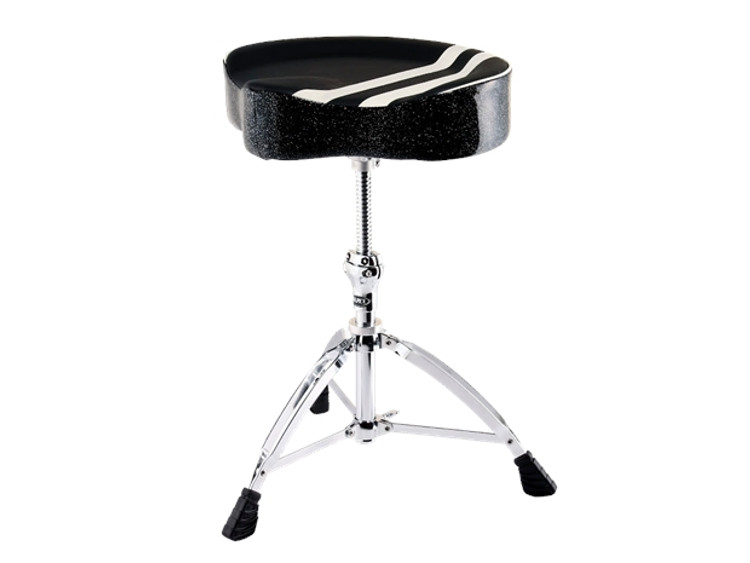 Mapex Retro saddle throne w/ spiral thread  Black