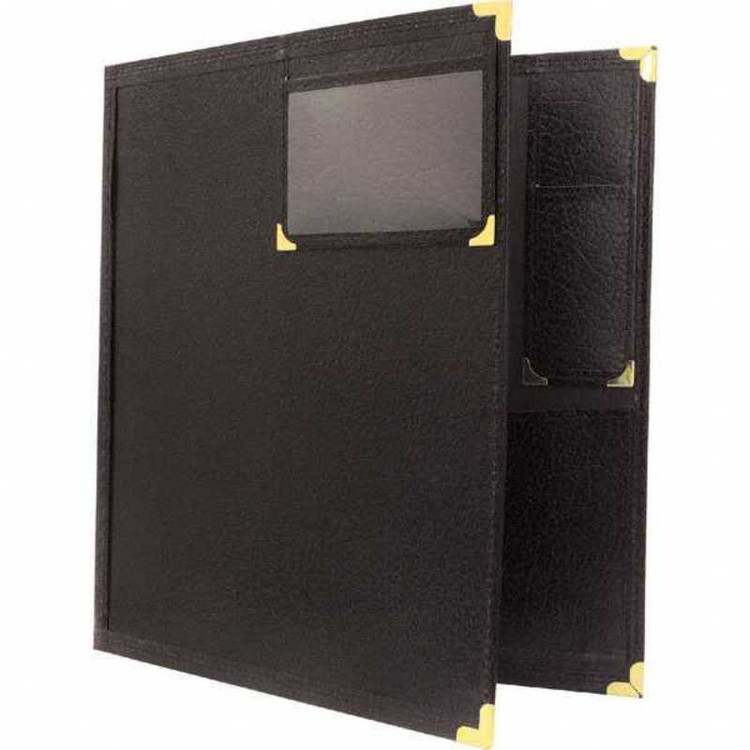 BAND FOLDER 12X14 WINDOW & PENCIL POCKET BLACK