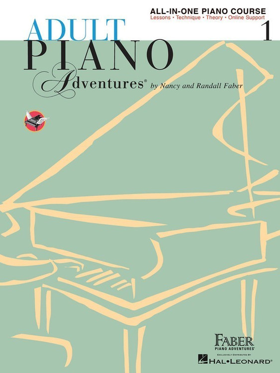 ADULT PIANO ADVENTURES ALL IN ONE LESSON BK 1