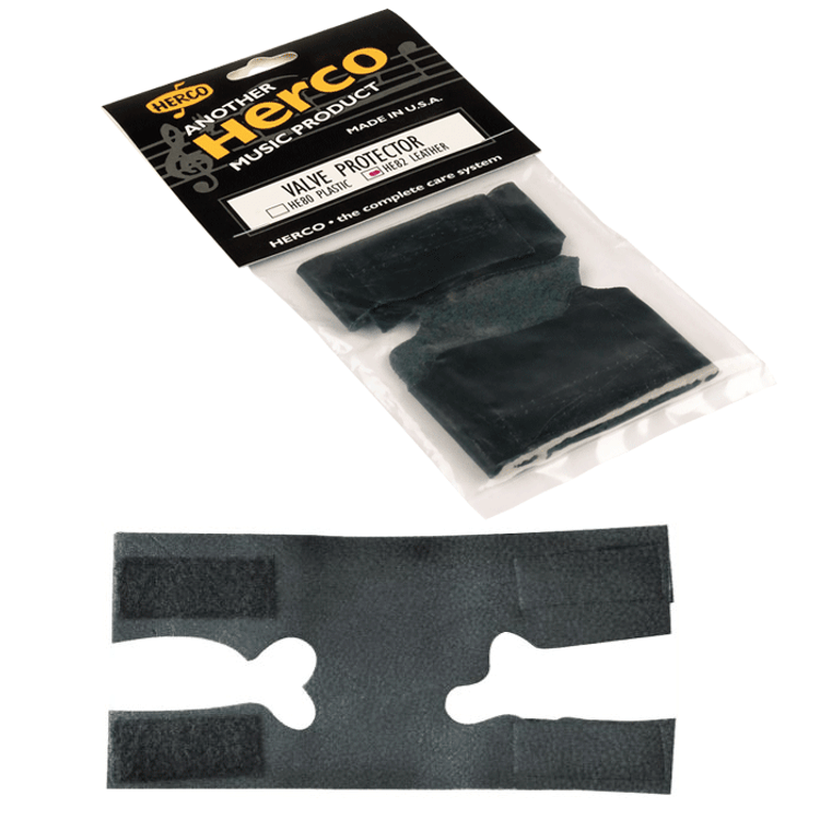 HERCO - Genuine black leather trumpet valve guard