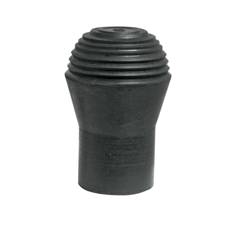 Ball end style rubber foot for drum stands