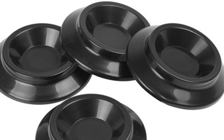 UPRIGHT PIANO CASTER CUPS BLACK (PACK OF 4)
