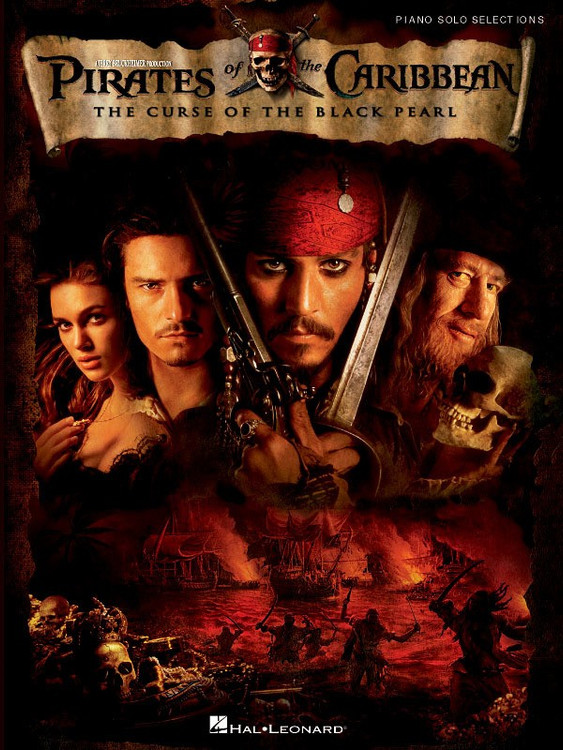 PIRATES OF THE CARIBBEAN BLACK PEARL PNO SOLO SHEET MUSIC BOOK