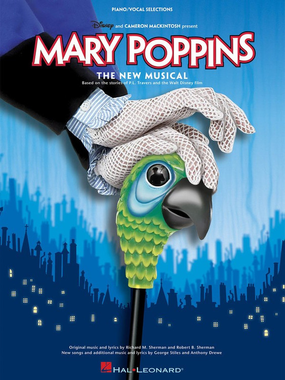 MARY POPPINS THE NEW MUSICAL PV SELECTIONS SHEET MUSIC BOOK