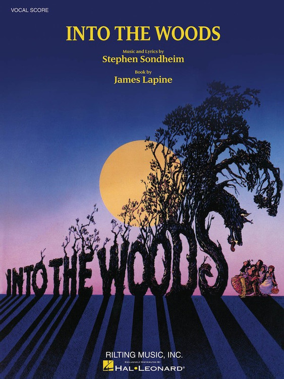 INTO THE WOODS VOCAL SCORE SHEET MUSIC BOOK