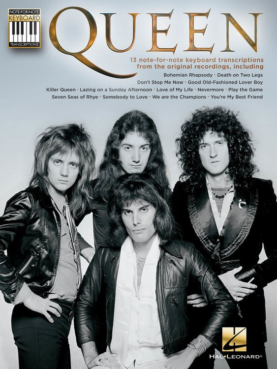 QUEEN NOTE FOR NOTE KEYBOARD TRANSCRIPTIONS SHEET MUSIC BOOK