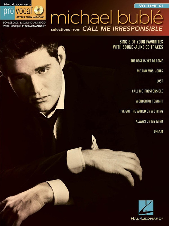 CALL ME IRRESPONSIBLE PRO VOCAL MEN V61 BK/CD SHEET MUSIC BOOK