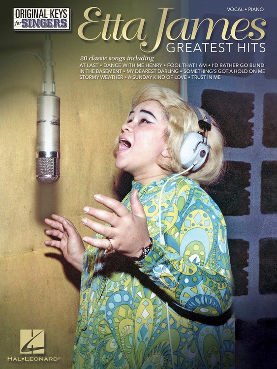 ETTA JAMES GREATEST HITS - ORIGINAL KEYS FOR SINGERS SHEET MUSIC BOOK