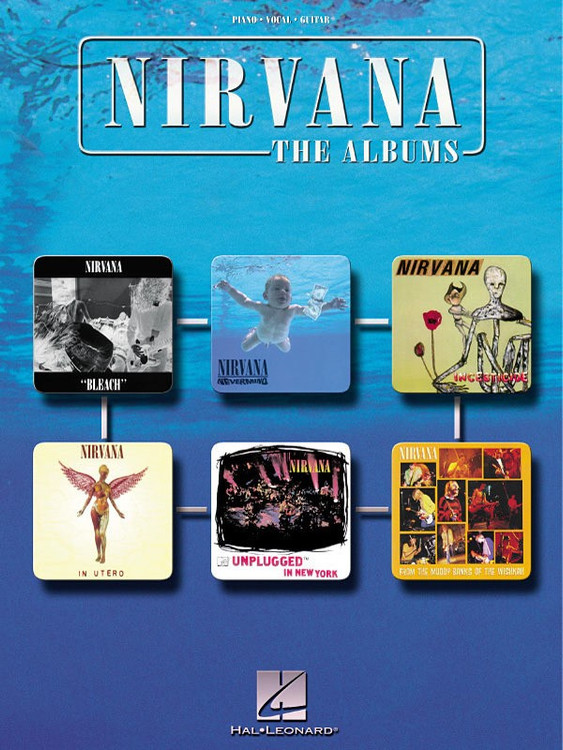 NIRVANA THE ALBUMS PVG SHEET MUSIC BOOK