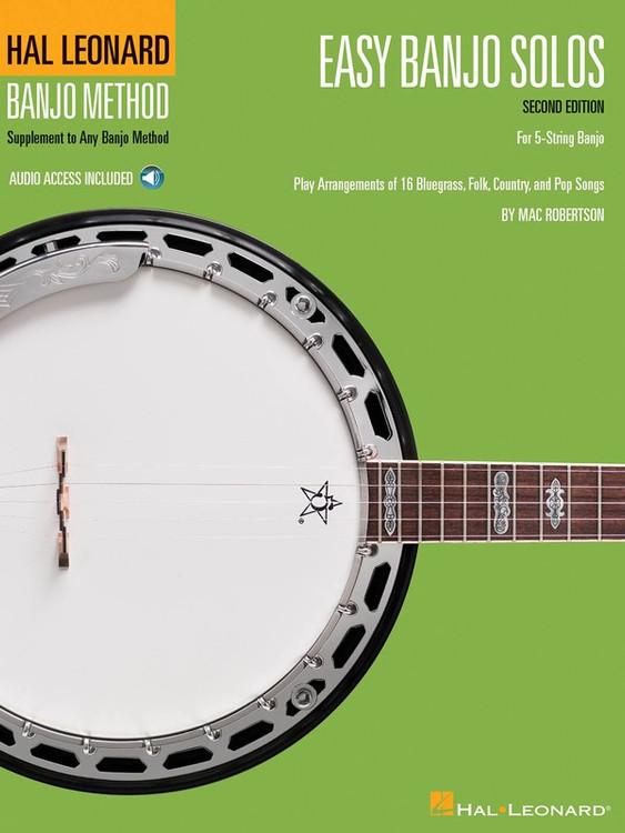 Hal Leonard EASY BANJO SOLOS 2ND ED W/ OLA SHEET MUSIC BOOK