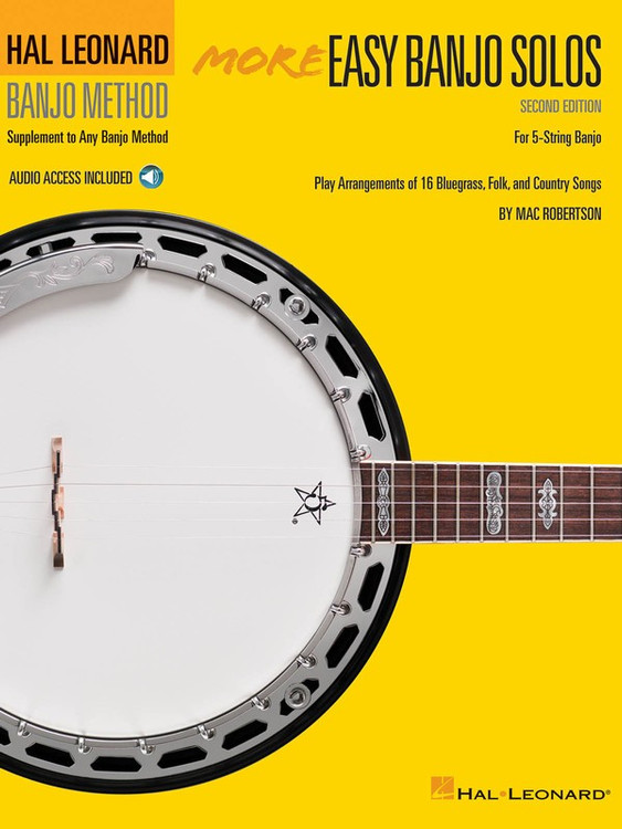 Hal Leonard MORE EASY BANJO SOLOS 2ND ED W/ OLA SHEET MUSIC BOOK