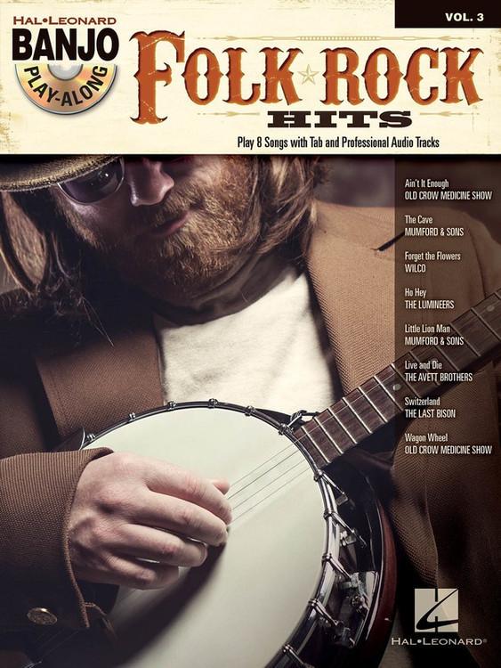 FOLK ROCK HITS BANJO PLAY ALONG V3 BK/CD SHEET MUSIC BOOK