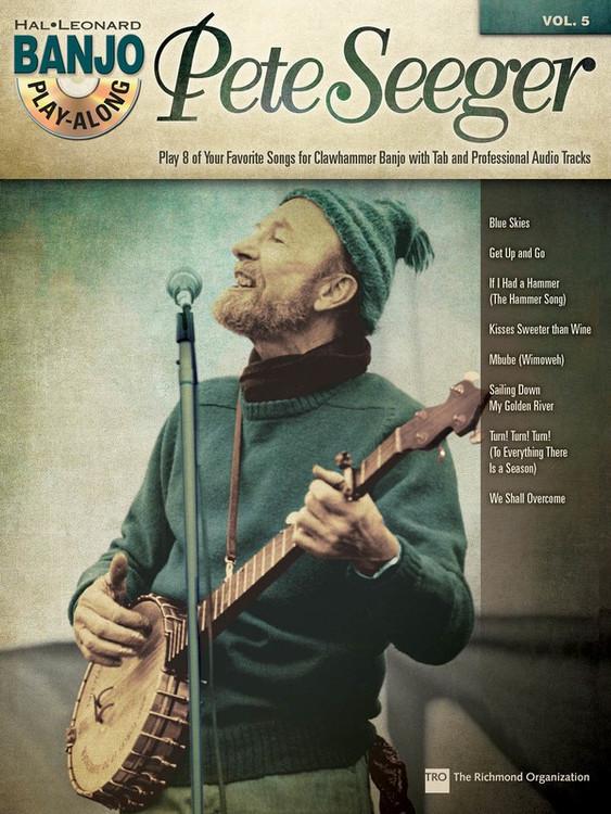 PETE SEEGER BANJO PLAY ALONG V5 BK/CD SHEET MUSIC BOOK