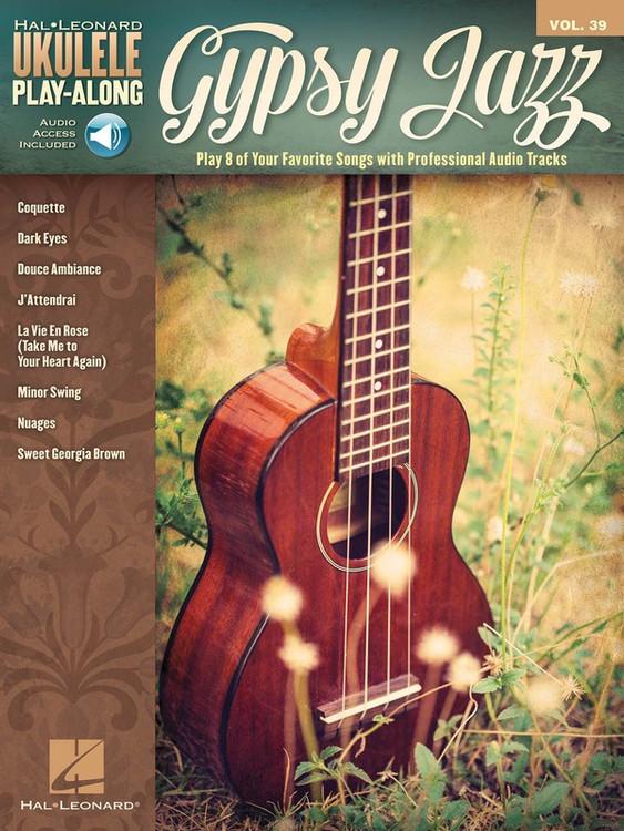 GYPSY JAZZ UKE PLAYALONG V39 BK/OLA SHEET MUSIC BOOK