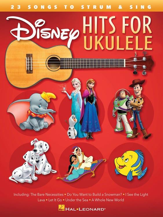 DISNEY HITS FOR UKULELE SHEET MUSIC BOOK