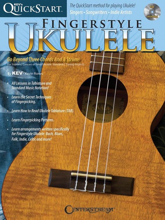 KEVS QUICKSTART FOR FINGERSTYLE UKULELE BK/CD SHEET MUSIC BOOK