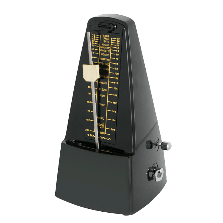 HEMINGWAY- Black Pyramid Style Metronome with Bell