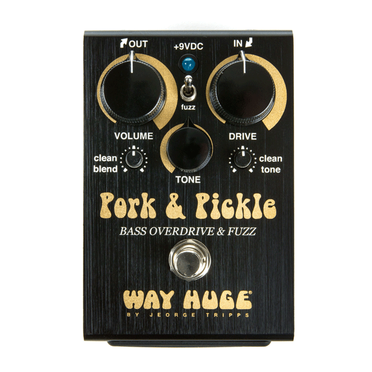 WAY HUGE - Pork & Pickle  Bass Overdrive & Fuzz Guitar Effects Pedal