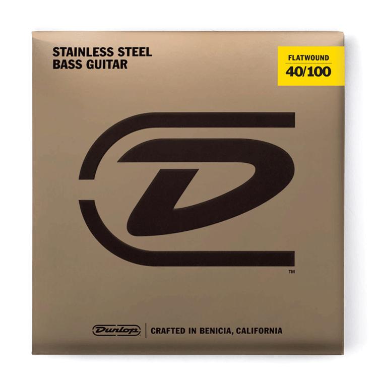 JIM DUNLOP - Stainless Steel Flat Wound Bass Guitar Set 40/100