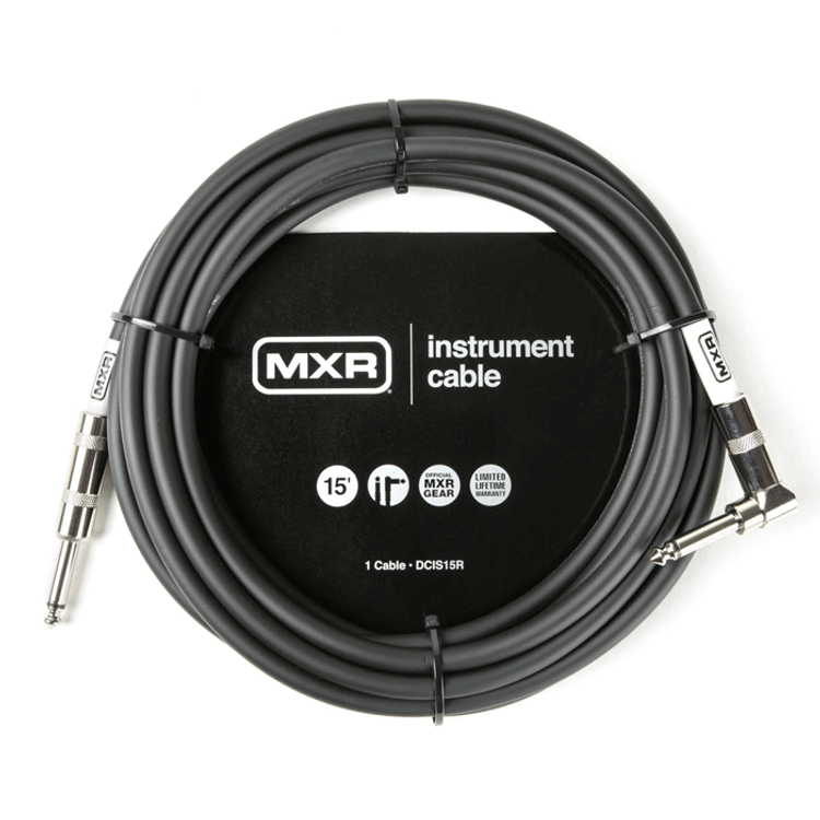 MXR - Noiseless guitar instrument cable right angle 15 foot