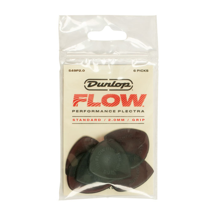 JIM DUNLOP- FLOW  Standard 2.0mm Guitar Pick Players Pack