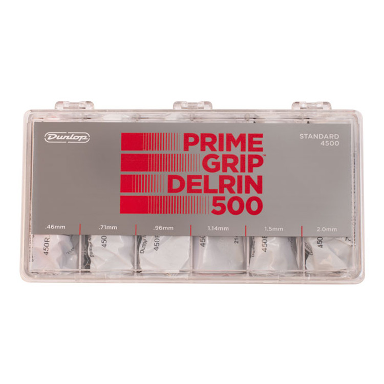 JIM DUNLOP- PRIME GRIP  Delrin 500 Pick Gauged Box set 324x Prime Grip Delrin 500 picks