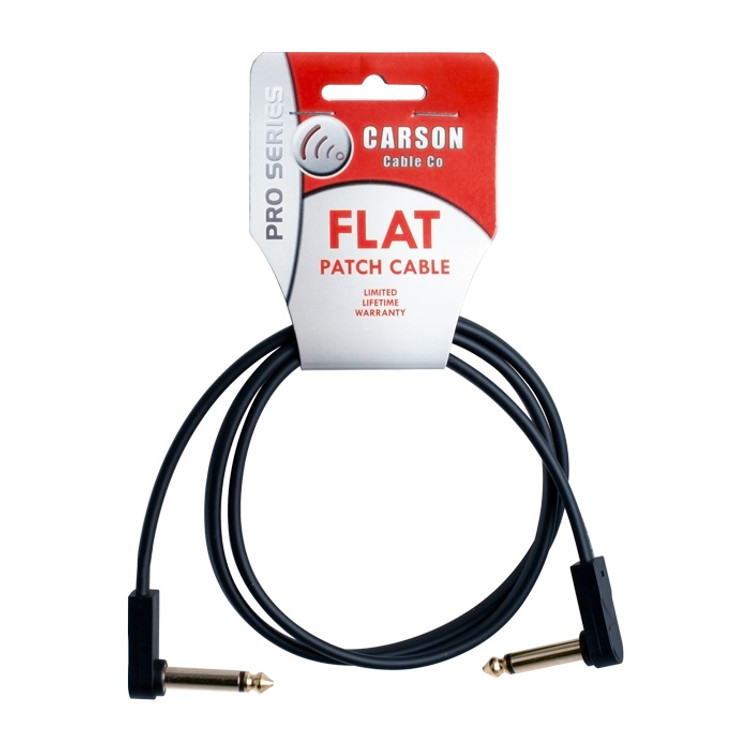 CARSON PRO - Guitar Effects Pedal Flat Patch Cable- 3 foot